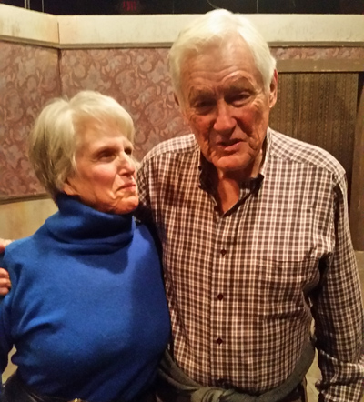 Author Ina Silvert Hillebrandt with Orson Bean, featured veggie, p. 65, 'You Are Who You Eat'